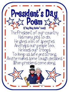 FREE President's Day mini unit including an adorable President's Day poem/song