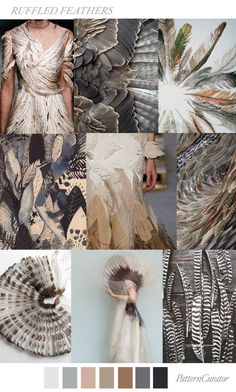 RUFFLED FEATHERS by PatternCurator mood board Check out these three home decor trends and see if you would incorporate them into your home for an instant update. Mode Inspiration, Color Inspiration, Fashion Art, Fashion Design, Fashion Trends, Feather Fashion, Motifs Textiles, Ruffled Feathers, Mood Colors
