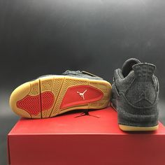 151bb61607e LEVI'S X AIR JORDAN 4 BLACK RELEASE INFOLevi's x Air Jordan 4Color: Black /BlackStyle