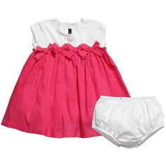 Fuchsia Pink Cotton Dress & Pants Set - Dresses - Baby | Childrensalon