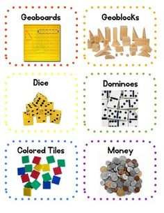 **FREE** Classroom Math Manipulatives Labels