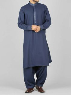 latest blue best pakistani men kurta shalwar kameez designs 2017 with same blue shalwar Mens Shalwar Kameez, Kurta Men, Gents Kurta, Mens Kurta Designs, Pakistani Dresses, Latest Fashion, My Design, Islam, Tunic Tops