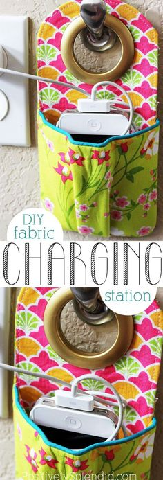 cell phone charging pouch sewing tutorials