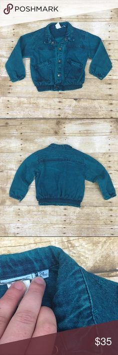 80s baby denim jacket For the hip baby/toddler this super fun acid wash teal blue denim jacket is everything! Size is 24 months, light wear no stains or tears this has lots of life left in it- offers are always welcome in my closet, bundle 2 of more items in my closet and receive 15% off! Jackets & Coats Jean Jackets