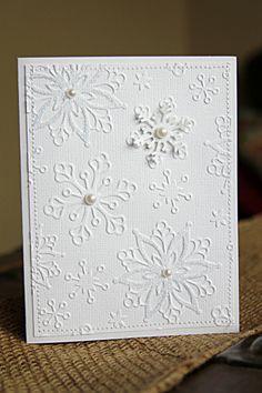 Handmade Cards Tutorial with Elegant White on White Embellishments