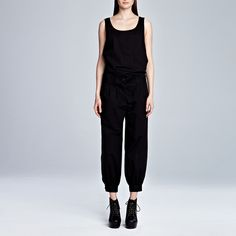 Anna Belted Pant Black | Friends & Associates