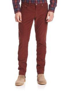 VINCE Slim Tapered-Fit Corduroy Pants. #vince #cloth #pants