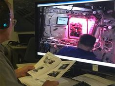 Space lettuce is now officially on the ISS menu     - CNET  Enlarge Image  Veggie project engineer Charles Spern relays messages from the Kennedy Space Centerto Shane Kimbrough to assist with the harvest. Photo by                                            NASA                                          The humble lettuce is still the subject of ongoing experimentation in microgravity. Over the last few years astronauts aboard the International Space Station have been trying to determine if…