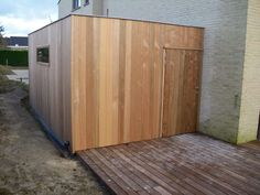 Tuinhuis kubus modern - Daniel Decadt - Houten Constructies - Houthandel Proven Afvoer Bike Storage, Outdoor Furniture, Outdoor Decor, Tiny House, Shed, Outdoor Structures, Pool Ideas, Garden Ideas, Home Decor