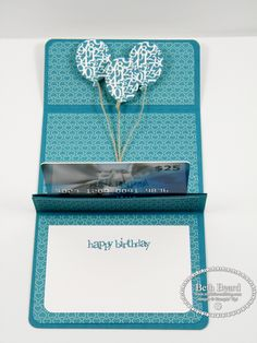 Pop up gift card holder By Beth Beard at My little. Gift Cards Money, Free Gift Cards, Gift Tags, Christmas Gift Card Holders, Christmas Gifts, Holiday Greeting Cards, Card Tutorials, Card Envelopes, Pop Up