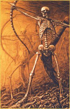 Skulls n Skeletons Fantasy Races, High Fantasy, Medieval Fantasy, Fantasy World, Warhammer Tomb Kings, Warhammer Fantasy, Walking Dead, Skeleton Warrior, Skeleton King