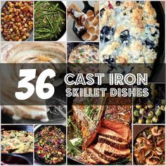 36 Knockout Cast Iron Skillet Recipes | Enjoy these top cast iron skillet recipes to make casseroles, meat dishes, veggies, bread, and even savory desserts.