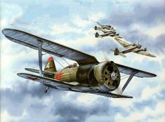 con 3 junkers al -fondo. Russian Air Force, Wright Brothers, Ww2 Planes, Aviation Art, Dieselpunk, World War Two, Illustrations Posters, Wwii, Fighter Jets