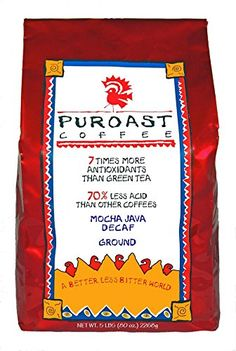 Puroast Low Acid Coffee Mocha Java Natural Decaf Drip Grind 5 Pound Bag *** Read more reviews of the product by visiting the link on the image.Note:It is affiliate link to Amazon.