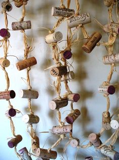 Rustic wedding decor Wine Cork Garland winery backdrop Eco Friendly upcycled decoration for home Wine Craft, Wine Cork Crafts, Wine Bottle Crafts, Crafts With Corks, Rustic Wedding Backdrops, Garland Wedding, Wedding Decoration, Birch Wedding, Rustic Christmas