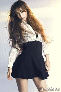 High-Waisted Black and White Lace Mini Dress