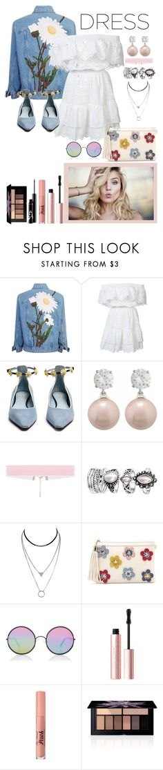 """Daisy do"" by emily-barrett97 ❤ liked on Polyvore featuring LoveShackFancy, Fabrizio Viti, Jankuo, Sunday Somewhere, Too Faced Cosmetics and Smashbox"