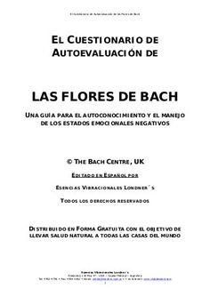 Cuestionario de auto-evaluación de las flores de Bach