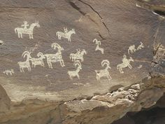 Petroglyphs from Arches National Park, Utah