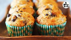 In this recipe you will learn how to make fluffy and moist banana and chocolate chip muffins.and chocolate chips, what's there not to like? Pancake Muffins, Chocolate Chip Muffins, Cake Icing, Sin Gluten, Other Recipes, Food Videos, Delish, Sweet Tooth, Sweets