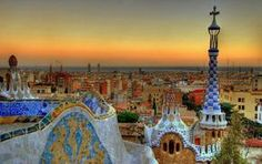 Park Güell, Barcelona. Created by Catalan architect Antoni Gaudi. Definitely on my bucket list!!  *Sara*