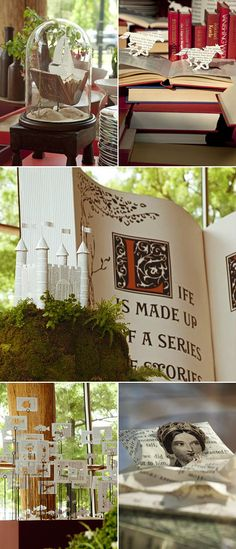 Maybe I will go with a fairy tale theme.  :)  I like the pop up ideas.