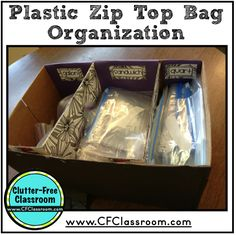 Organizing and Managing Ziploc Bags {A Teacher DIY Project}