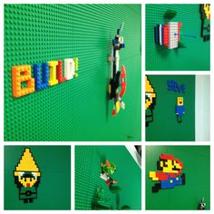 LEGO Wall art from the first day - post on how we built our Epic LEGO Wall - Intarsia for Technicals