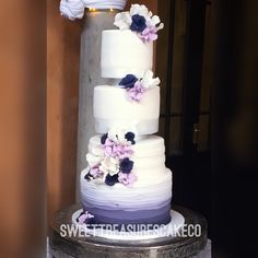#congratulations to the brand new Mr and Mrs Sekhitla on getting married. #weddingcake #weddingthings #wedding #purple #white #marriage #newbeginnings #mrandmrs #weddingflowers #love #johannesburg #southafrica #joburg #sweettreasurescakeco #sweettreasures #ombre
