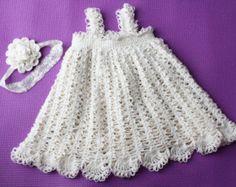Isabel - vestido flor ganchillo patrón recién nacido, el bebé y aunque niño 3T