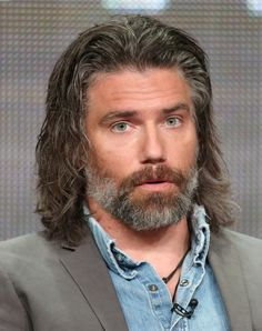 """Anson Mount Photos Photos - Anson Mount attends the Build Series to discuss the new show """"Inhumans""""at Build Studio on August 2017 in New York City. Build Presents Anson Mount & Serinda Swan Discussing The New Show """"Inhumans"""" Anson Mount, The Beverly, Beverly Hilton, Hell On Wheels, Hot Hunks, Hair And Beard Styles, American Actors, Gorgeous Men, Face And Body"""