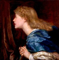 Ellen Terry. 1864-1865 by G F Watts @ Little Holland House. Married to Watts albeit very briefly. Ellen Terry went on to become a famous  theatre actress and remained friends with Laura & Rachel Gurney & others connected to the Little Holland House Circle.