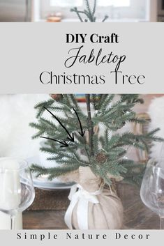 How To Make A Tabletop Christmas Tree is agreat idea to recycle your christmas tree branches. #recycle #christmastree #smallchristmastree Driftwood Christmas Tree, Christmas Tree Branches, Tabletop Christmas Tree, Small Christmas Trees, Christmas Tree Crafts, Homemade Christmas, Christmas Projects, Christmas Tree Decorations, Skinny Christmas Tree