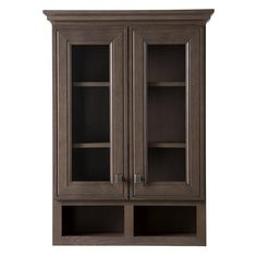 Home Decorators Collection Albright 27 in. W x 38 in. H x 9 in. D Bathroom Storage Wall Cabinet in Winter Gray Bathroom Wall Storage, Wall Storage Cabinets, Bathroom Wall Cabinets, Wood Cabinets, Bathroom Storage, Tall Cabinet Storage, Brown Bathroom, Lake Bathroom, Master Bathroom