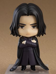 """"""" From the popular """"Harry Potter"""" film series comes a Nendoroid Severus Snape, teacher at the Hogwarts School of Witchcraft and Wizardry! He comes with three interchangeable face plates including a standard expression, a serious expres. Harry Potter Hermione Granger, Harry Potter Anime, Harry Potter Facts, Harry Potter Characters, Harry Potter Movies, Draco Malfoy, Anime Faces Expressions, Mode Shop, Kawaii"""