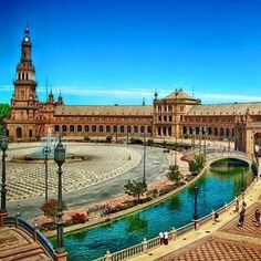 Spain is exciting and distinctive, accept your inner happen drip at El Prado in Madrid, walk the active pathway down the Mediterranean in Barcelona . Sevilla Spain, Andalusia Spain, Places Around The World, Travel Around The World, Around The Worlds, Places To Travel, Places To See, Travel Destinations, Voyage Rome