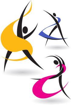 Hi-res stock stock vector image. Discover the amazing world of our photographers & graphic designers worldwide. Free Vector Images, Vector Free, Scrapbooking Image, Yoga Kunst, Dance Logo, Dance Vector, Dance Marathon, Motif Art Deco, Studio Logo