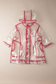 Pluie Pluie Unlined Transparent Fuchsia Piping Rain Coat by Girls' Apparel: Up To 75% Off on @HauteLook