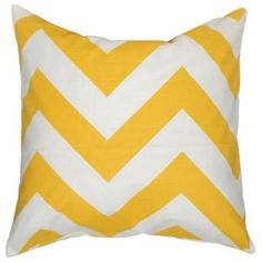 Elisabeth Michael Chevron Yellow Throw Pillow (155 AUD) ❤ liked on Polyvore featuring home, home decor, throw pillows, pillows, bedding, cushions, chevron home decor, oversized throw pillows, geometric throw pillows and yellow home decor