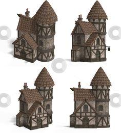 cutcaster-photo-100116959-Medieval-Houses-Inn.jpg (406×450)