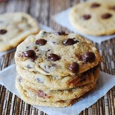 Soft and chewy chocolate chip cookies by juliasalbum
