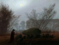 A Walk at Dusk, 1830 by Caspar David Friedrich