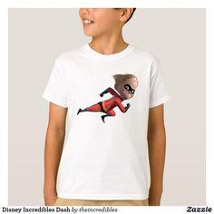 Disney Incredibles Dash T-Shirt. Beautiful Disney The Incredibles merchandise to personalize. #disney #theincredibles #birthday #gifts #personalize #shopping