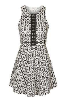 **Take It Diamond Print Dress by WYLDR