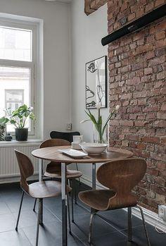 Ant chair by Arne Jacobsen rom Fritz Hansen Ant Chair, Interior And Exterior, Interior Design, Interior Modern, House Ideas, Dining Room Design, Creative Home, Simple House, Kitchen Decor