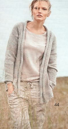 Ravelry: #44 Verschlussloser Cardigan pattern by Tanja Lay