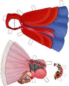 Paper Dolls~Little Red Riding Hood - Bonnie Jones - Picasa Web Albums Felt Dolls, Doll Toys, Paper Toys, Paper Crafts, Doll Crafts, Paper Dolls Printable, Vintage Paper Dolls, Free Prints, Red Riding Hood
