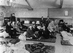 The survivors of the Titanic's port of Plymouth Millbay 1912th May Day.