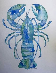 31 Best ideas for ocean animal art projects etsy Watercolor Ocean, Watercolor Animals, Watercolour Painting, Painting & Drawing, Watercolors, Guache, Sea Art, Coastal Art, Fish Art