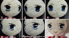 Как вышить глазки куколке амигуруми (6)